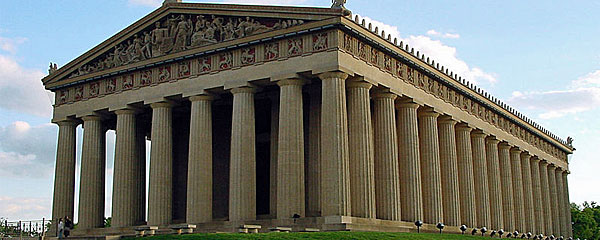 Nashville's Parthenon. Photo by Ryan Kaldari, via Wikipedia.